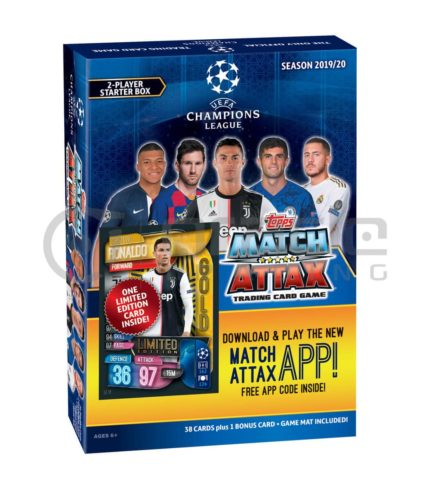 2019-20 Topps Match-Attax Champions League Cards - Starter Box