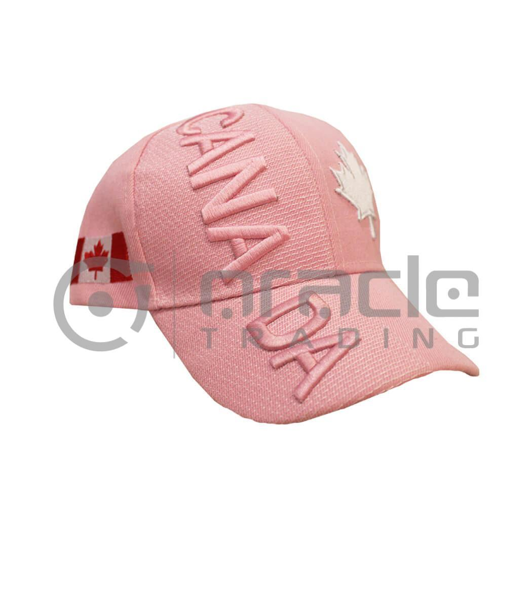 3D Canada Hat - Pink