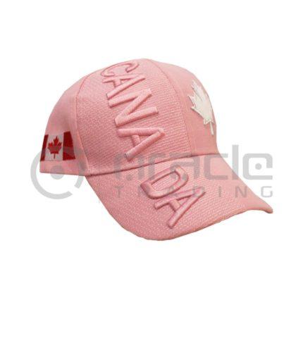 3D Canada Hat - Pink