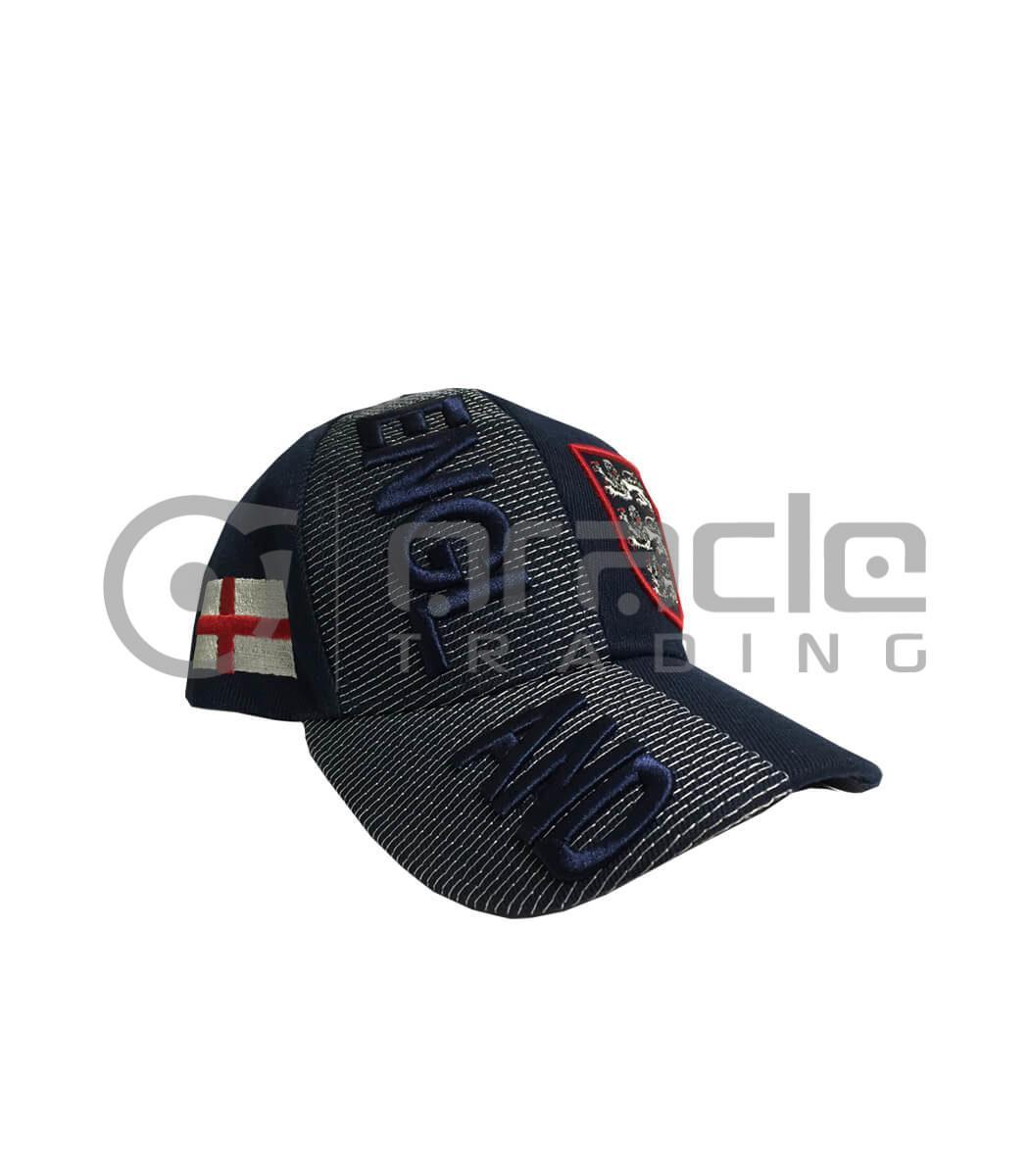 3D England Hat - Navy - Kid Size