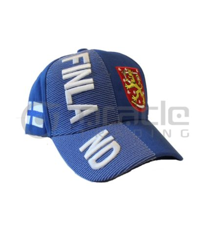 3D Finland Hat - Blue