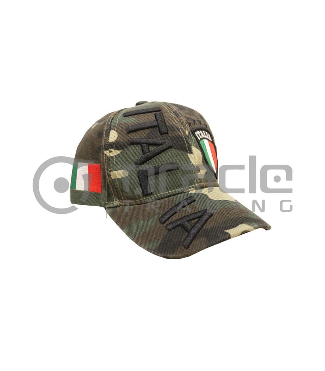 3D Italia Hat - Green Camo - Kid Size