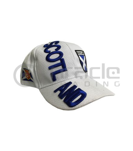 3D Scotland Hat - White