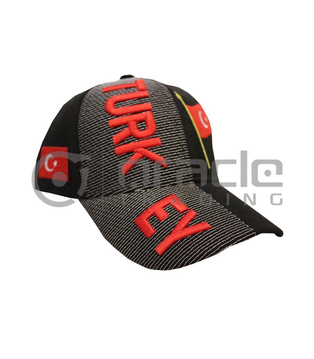 3D Turkey Hat - Black