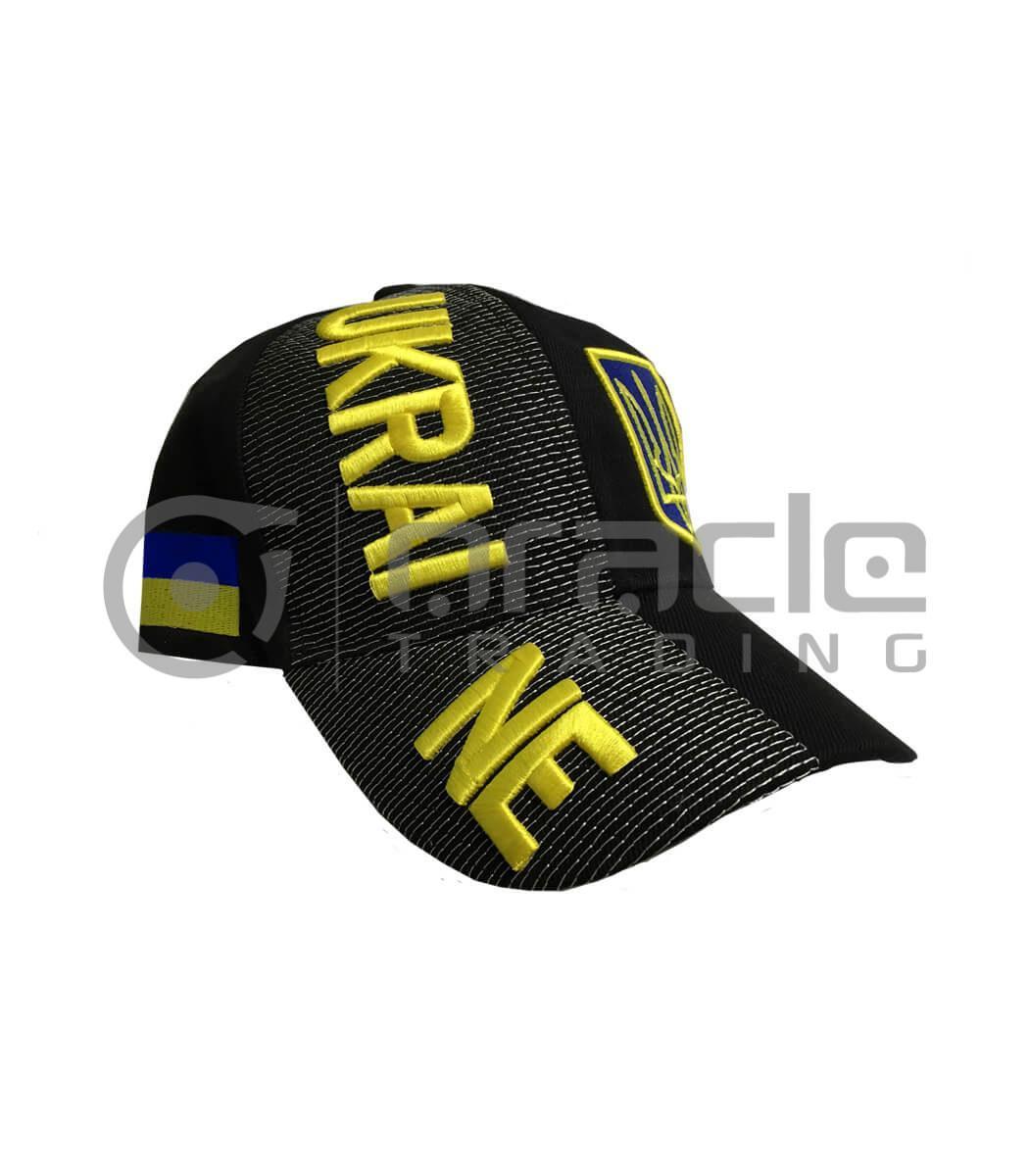 3D Ukraine Hat - Black