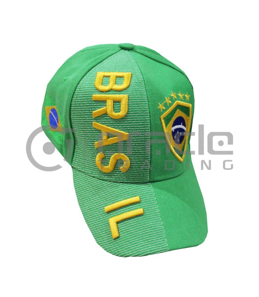 3D Brazil Hat - Green