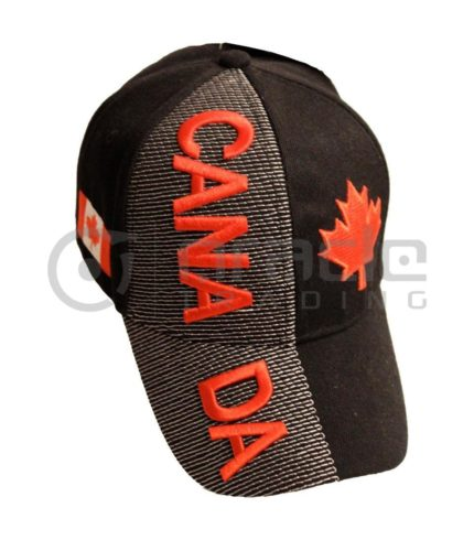 3D Canada Hat - Black