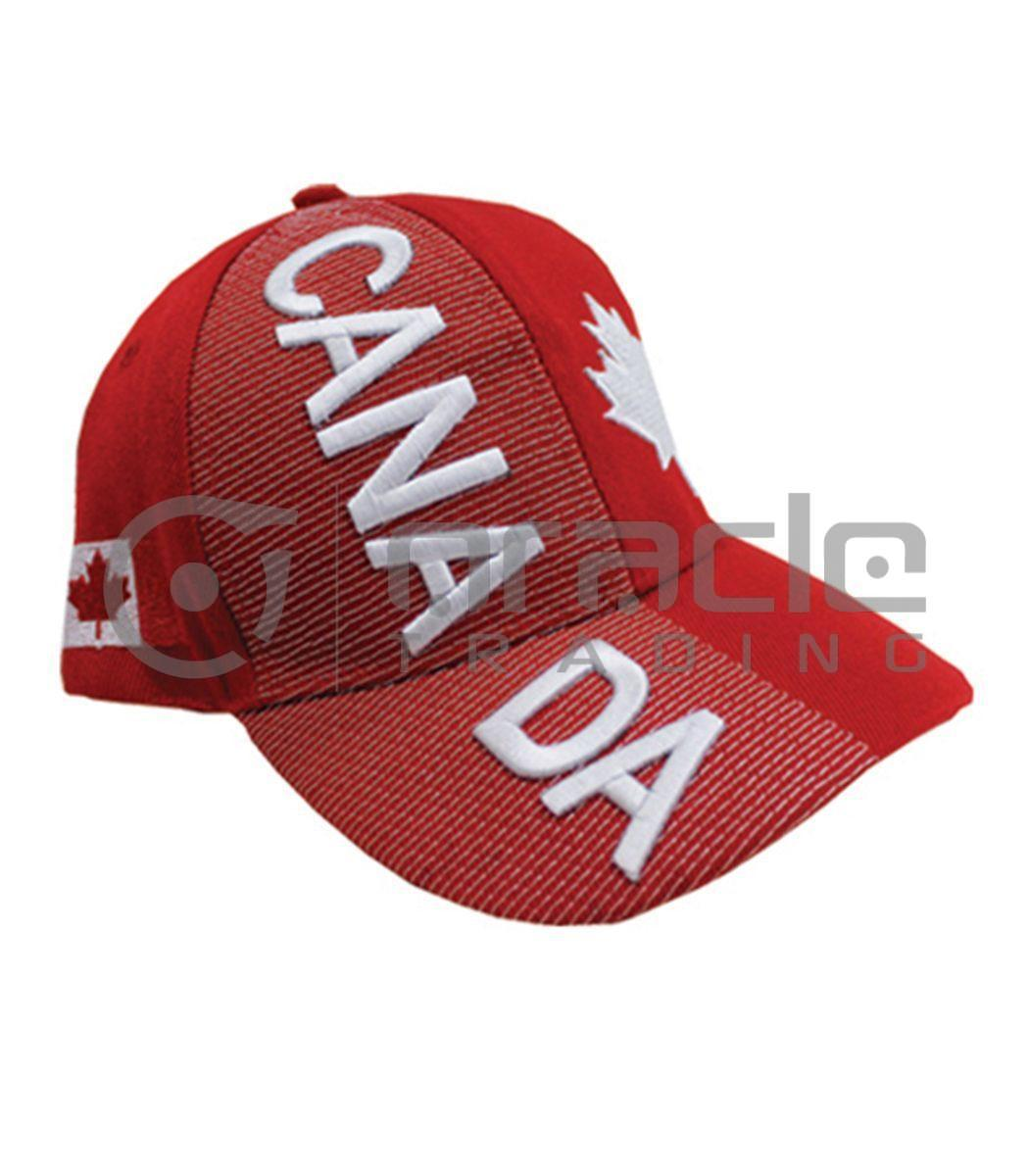 3D Canada Hat - Red