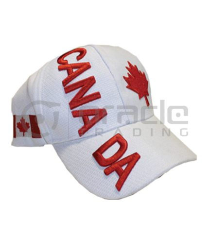 3D Canada Hat - White