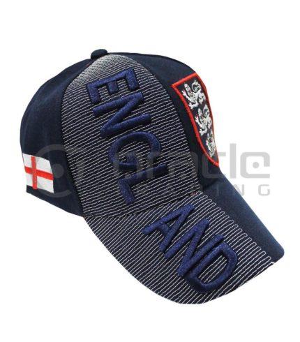 3D England Hat - Navy