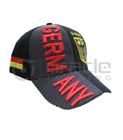 3D Germany Hat - Black