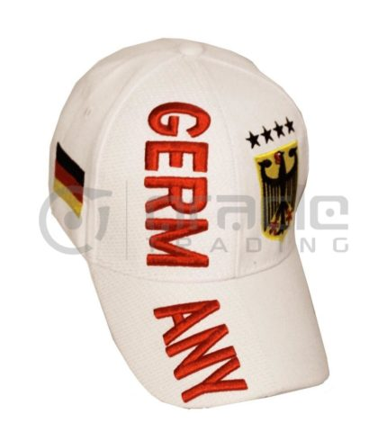 3D Germany Hat - White - 4-Star