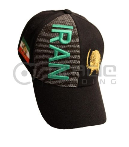 3D Iran Hat - Black