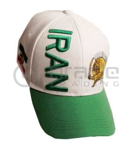 3D Iran Hat - White