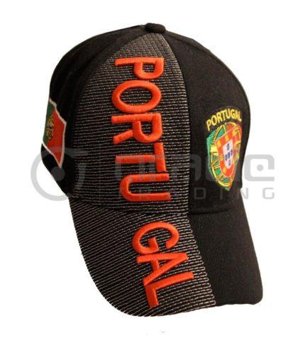 3D Portugal Hat - Black