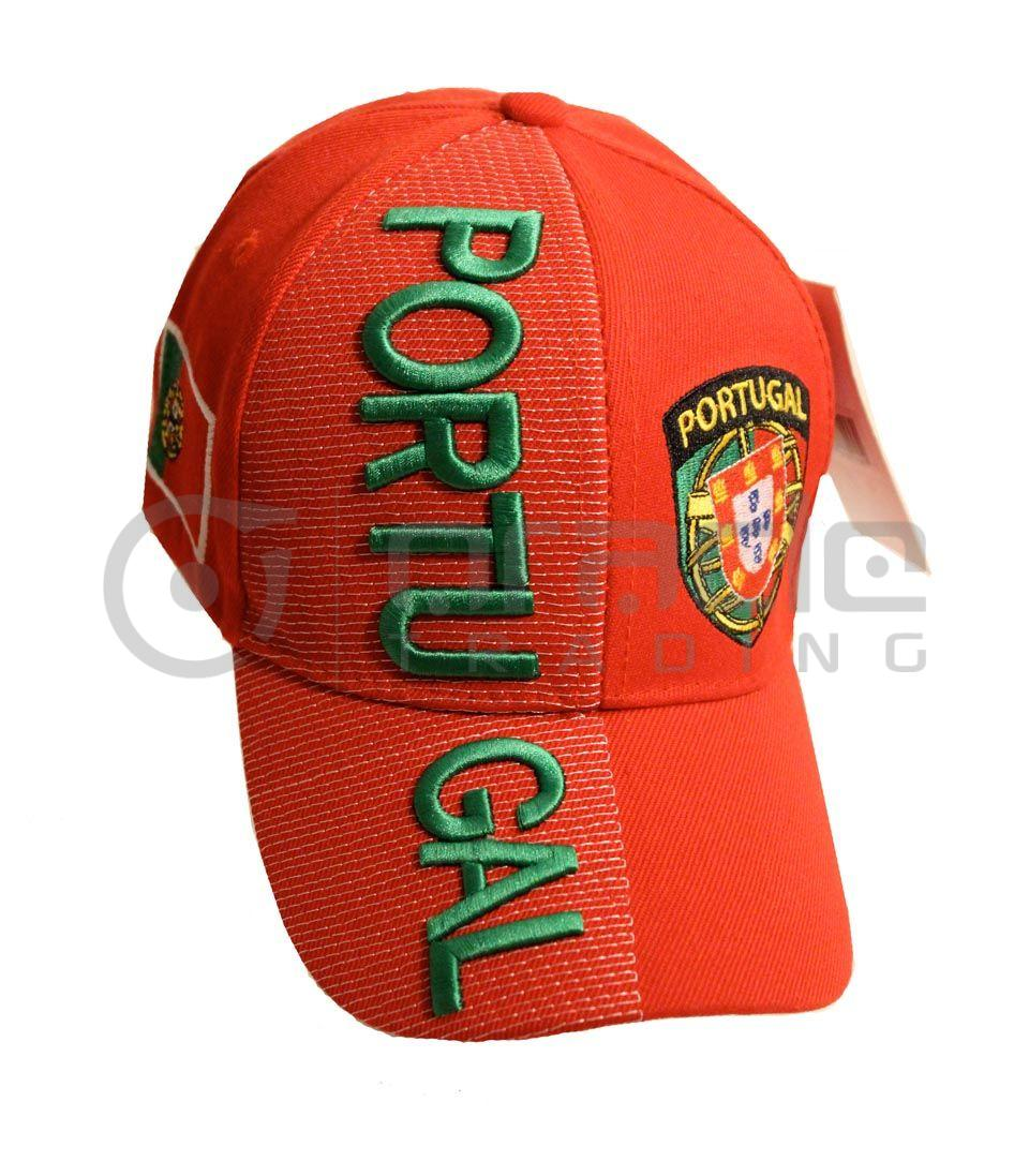 3D Portugal Hat - Red