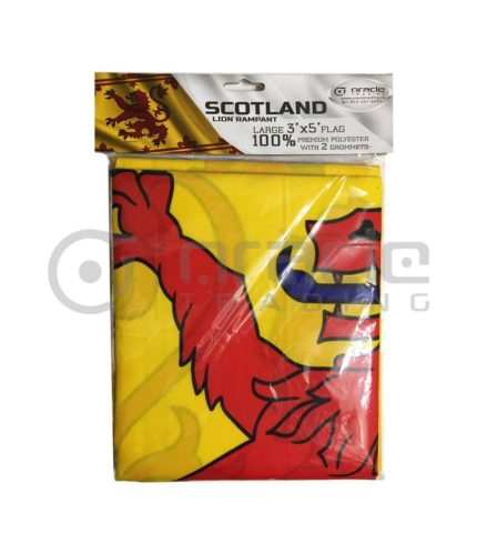 Large 3'x5' Scotland Flag - Rampant Lion