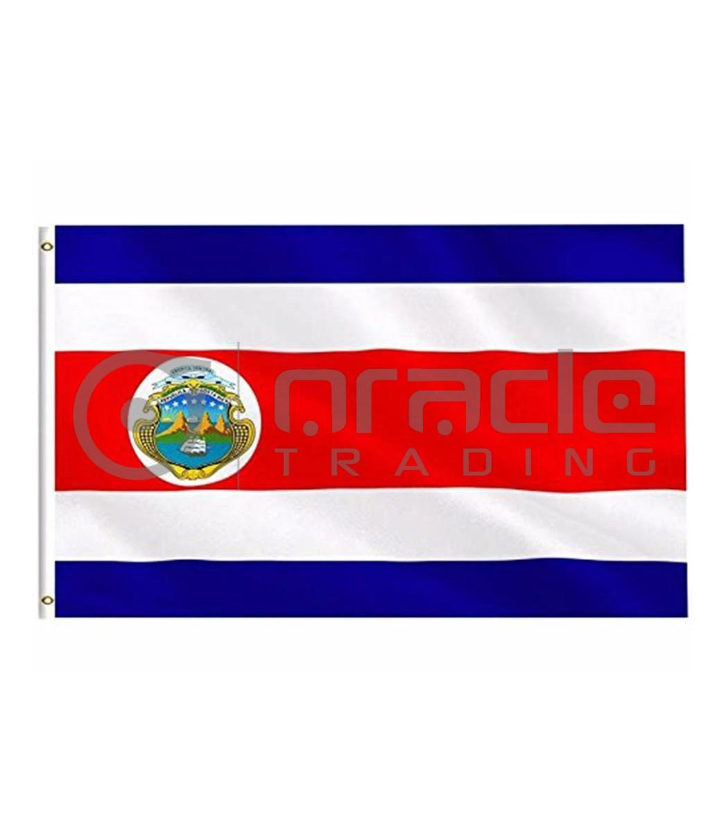 Large 3'x5' Costa Rica Flag