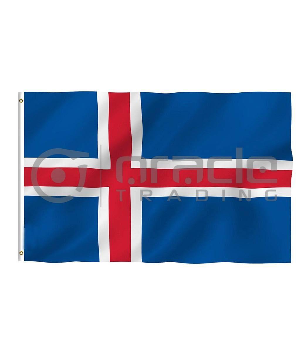 Large 3'x5' Iceland Flag