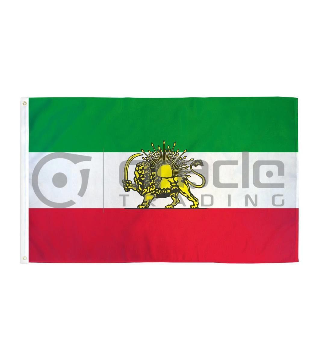 Large 3'x5' Iran Flag - Lion