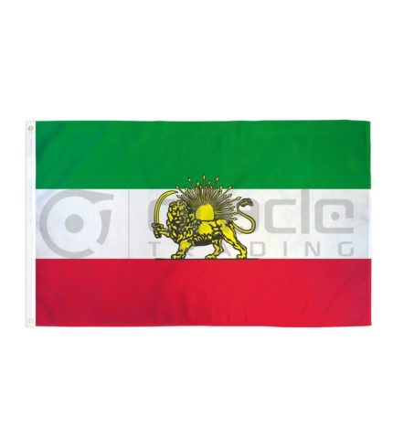 Large 3'x5' Iran Flag - Lion