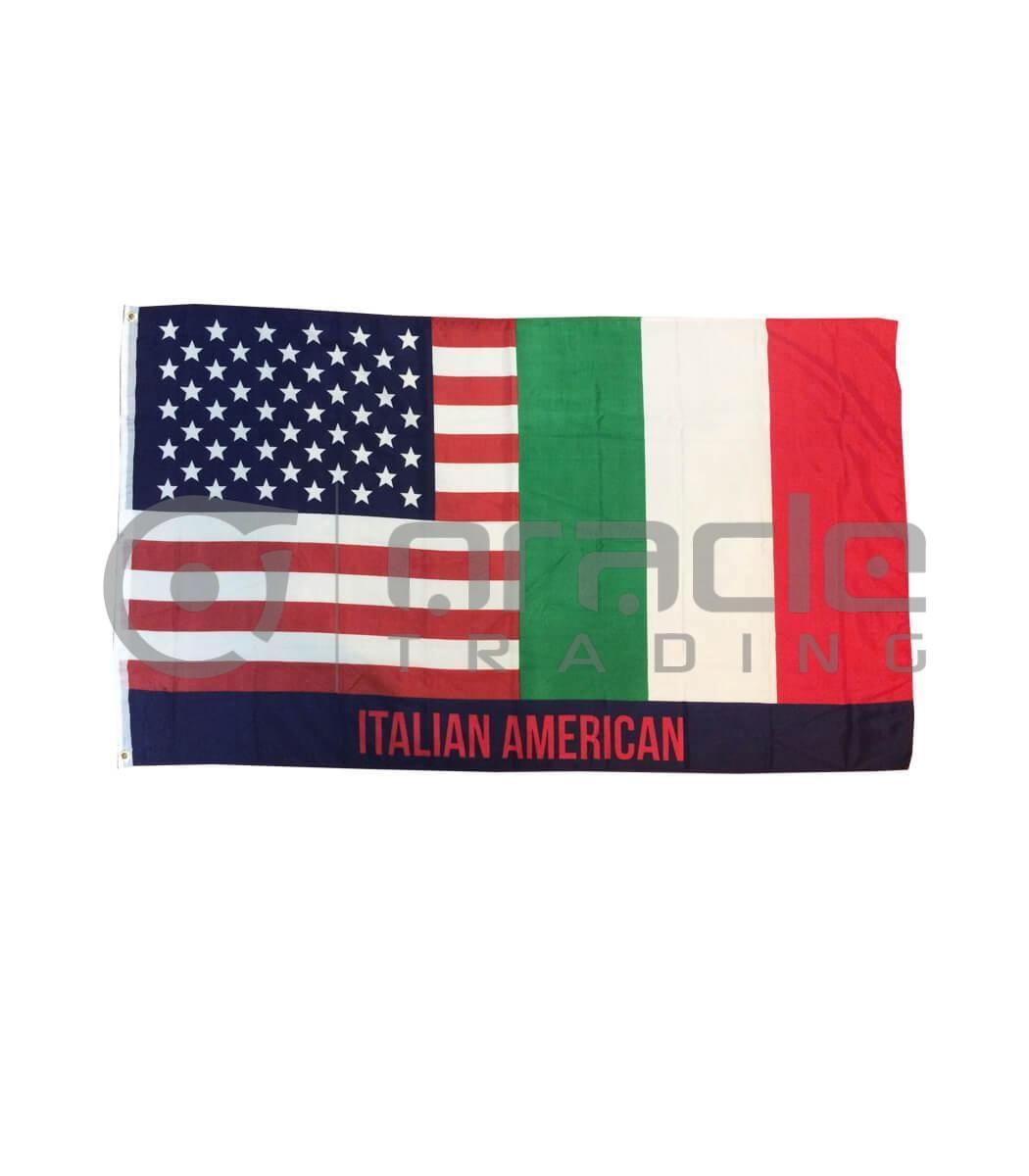 Large 3'x5' Italian-American Flag