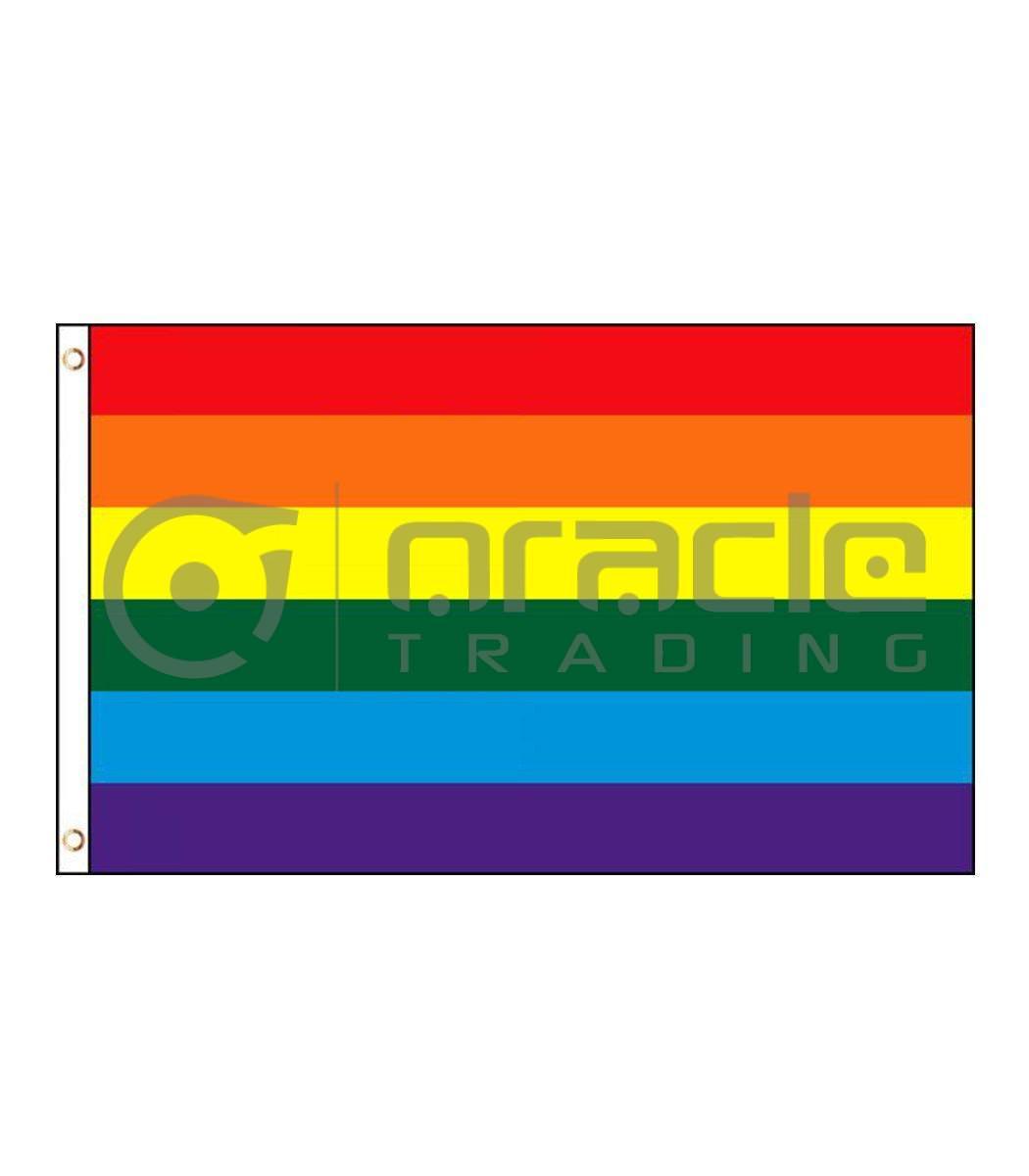 Large 3'x5' Rainbow Pride Flag