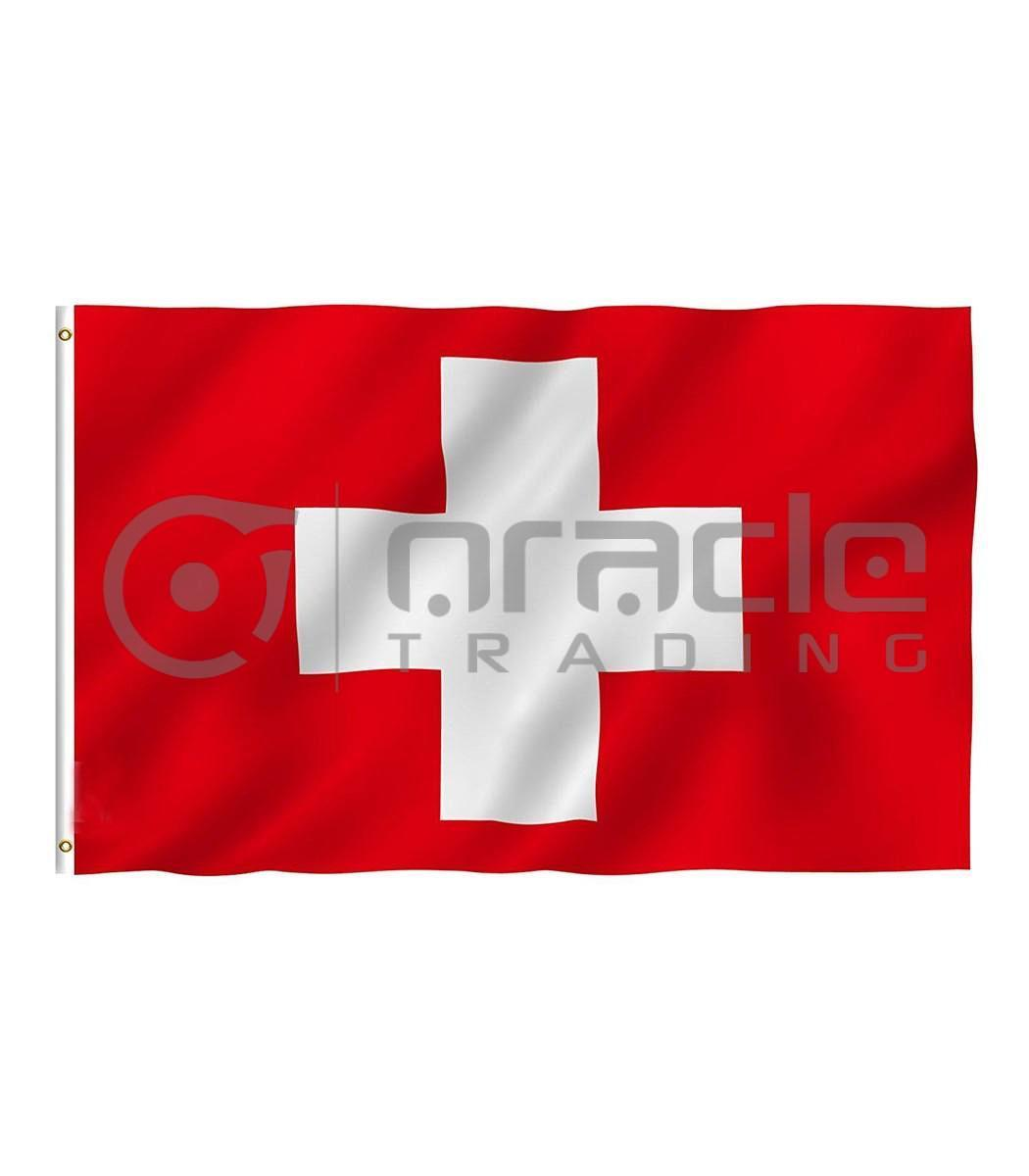 Large 3'x5' Switzerland Flag