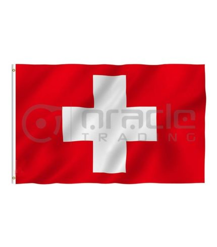 Large 3'x5' Switzerland Flag