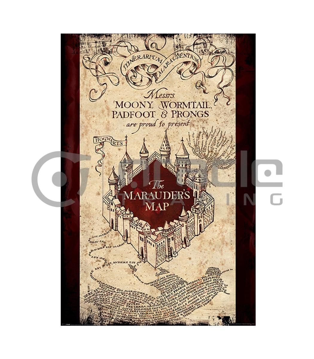 Harry Potter Marauders Map Poster