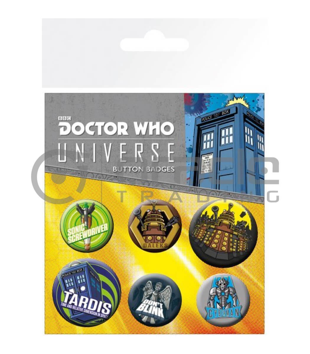 Doctor Who Badge Pack - Alien Adventures
