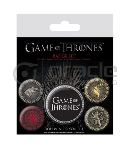 Game of Thrones Crests Badge Pack