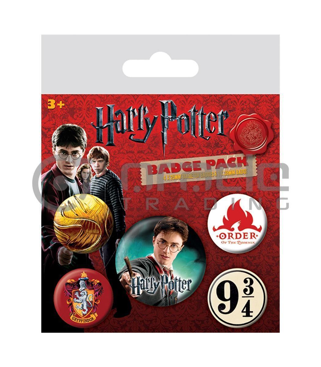 Harry Potter Gryffindor Badge Pack