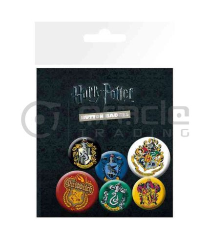 Harry Potter House Crests Badge Pack