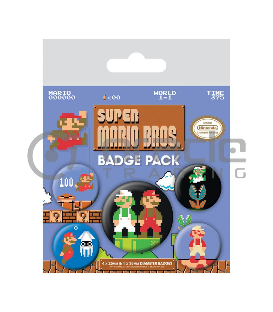 Super Mario Badge Pack - Retro