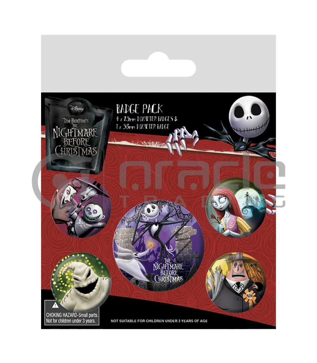 Nightmare Before Christmas Badge Pack