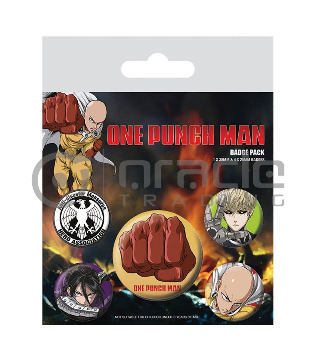 One Punch Man Badge Pack
