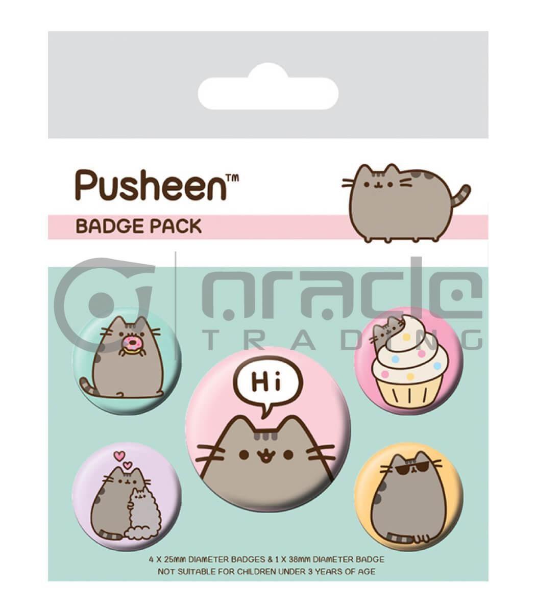 Pusheen Badge Pack