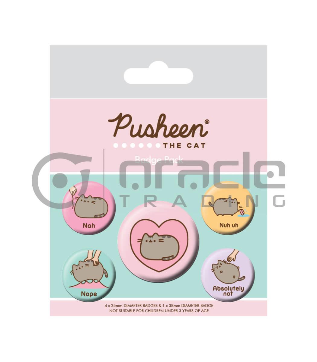 Pusheen Badge Pack - Lazy