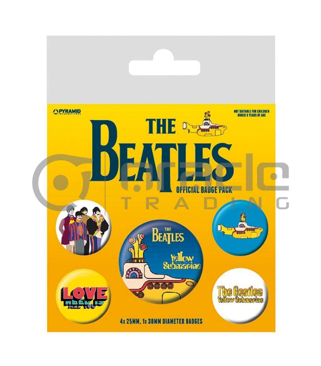 The Beatles Badge Pack - Yellow Submarine