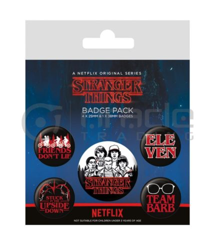 Stranger Things Badge Pack