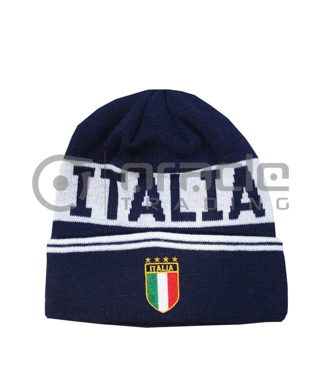 Italia Fold-up Beanie (Navy)