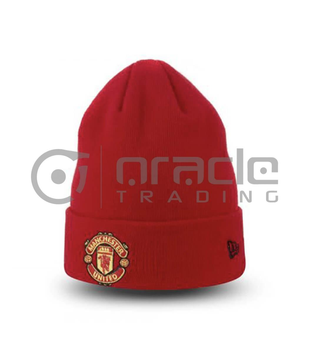 Manchester United Fold-up Beanie - Red
