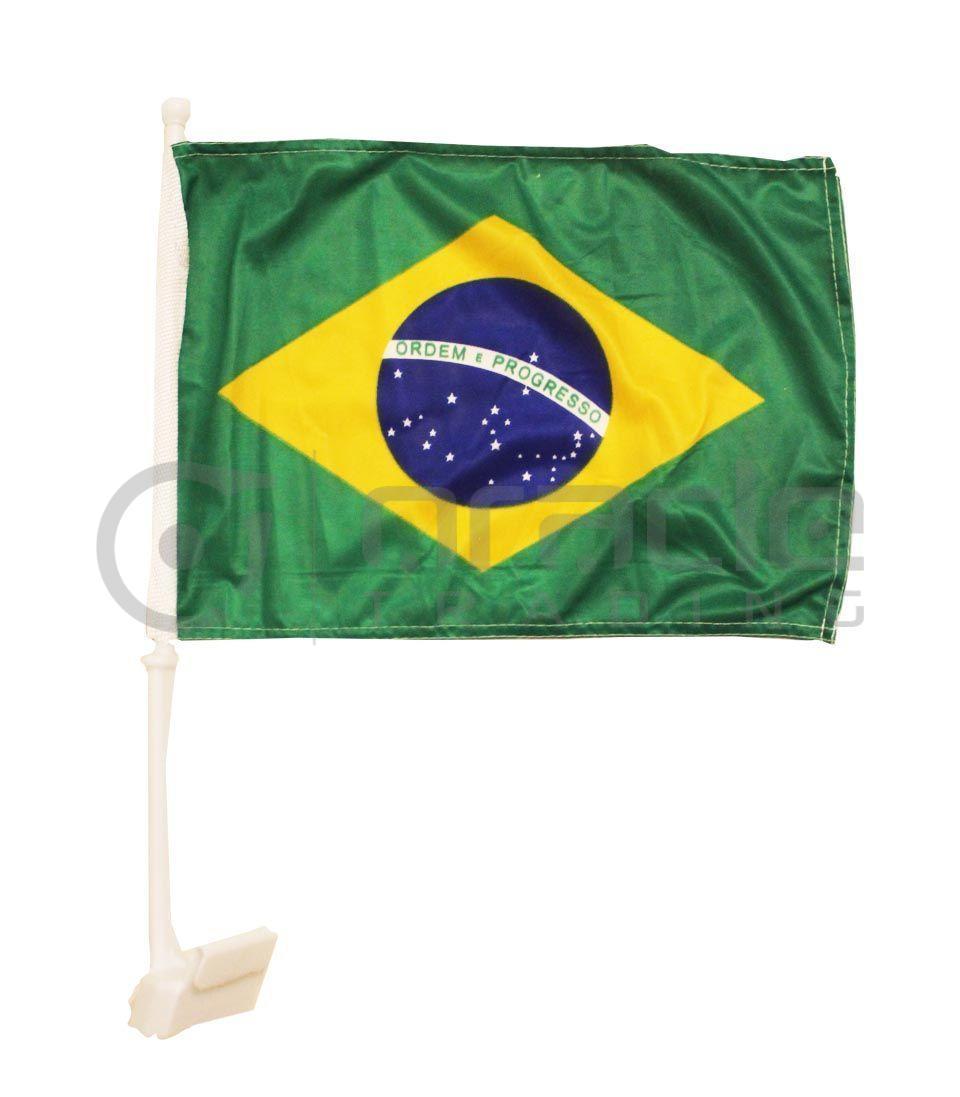 Brazil Car Flag