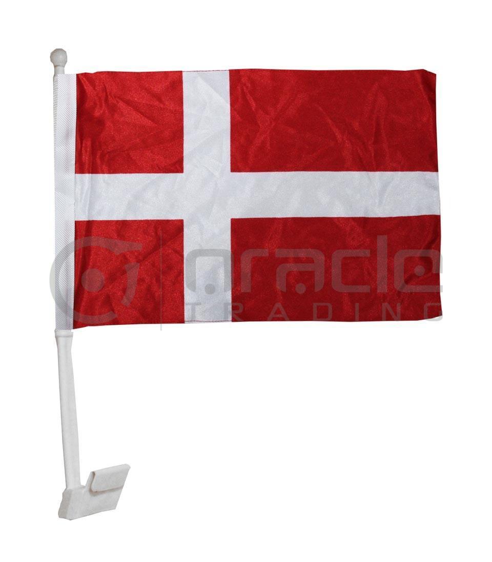Denmark Car Flag