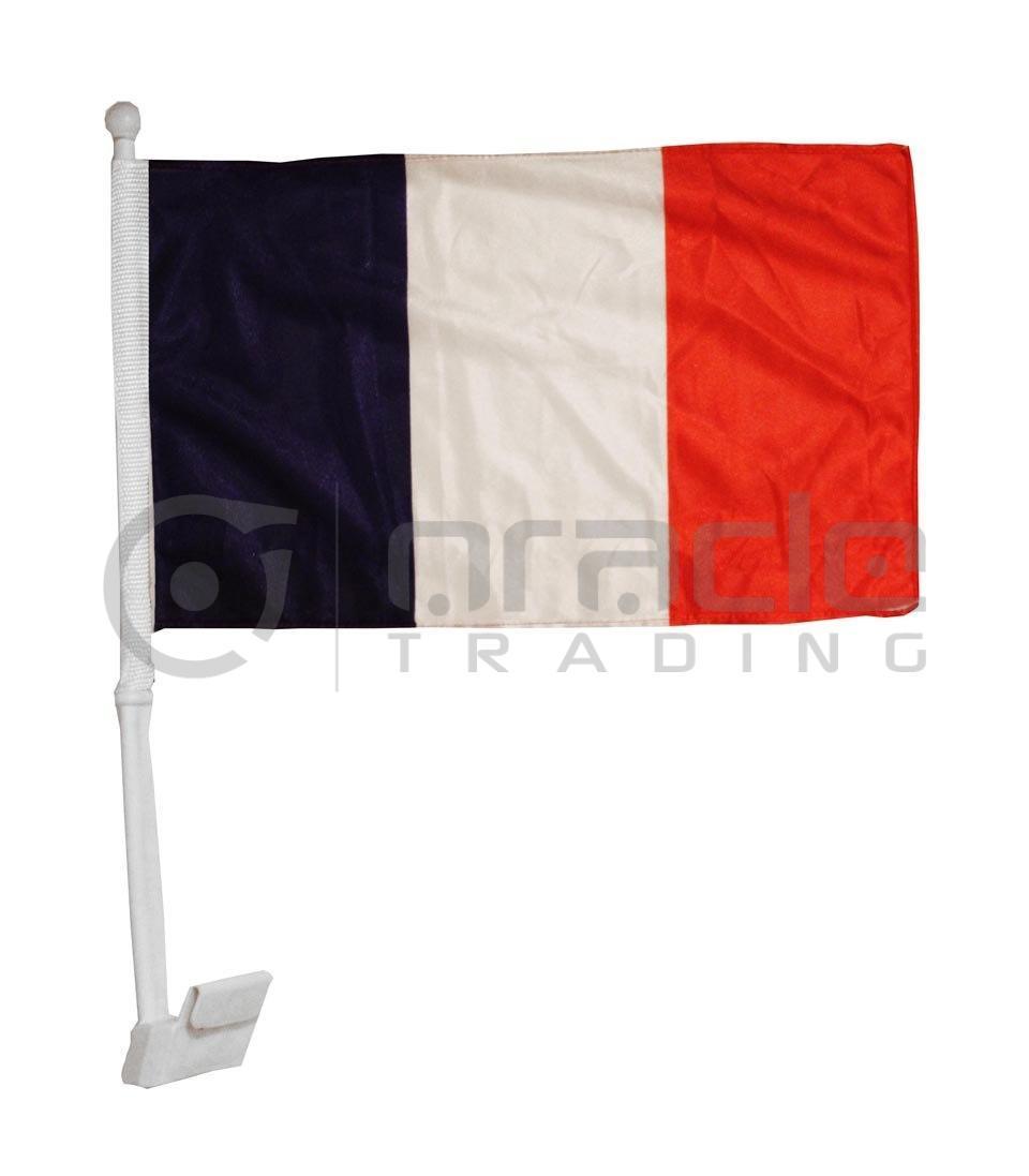 France Car Flag