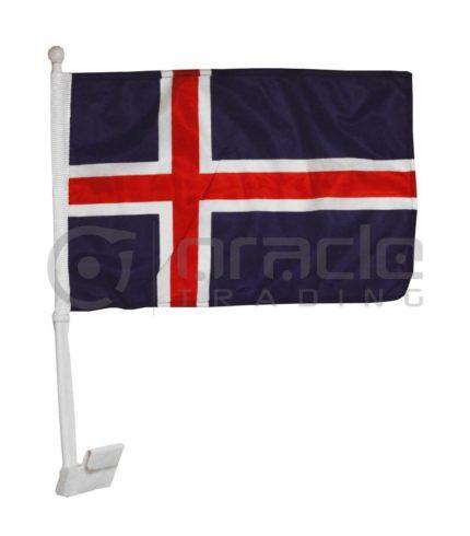 Iceland Car Flag