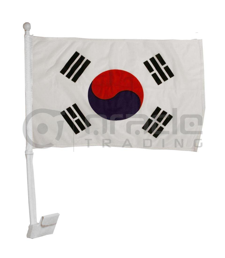 South Korea Car Flag