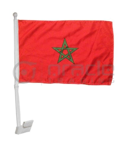 Morocco Car Flag