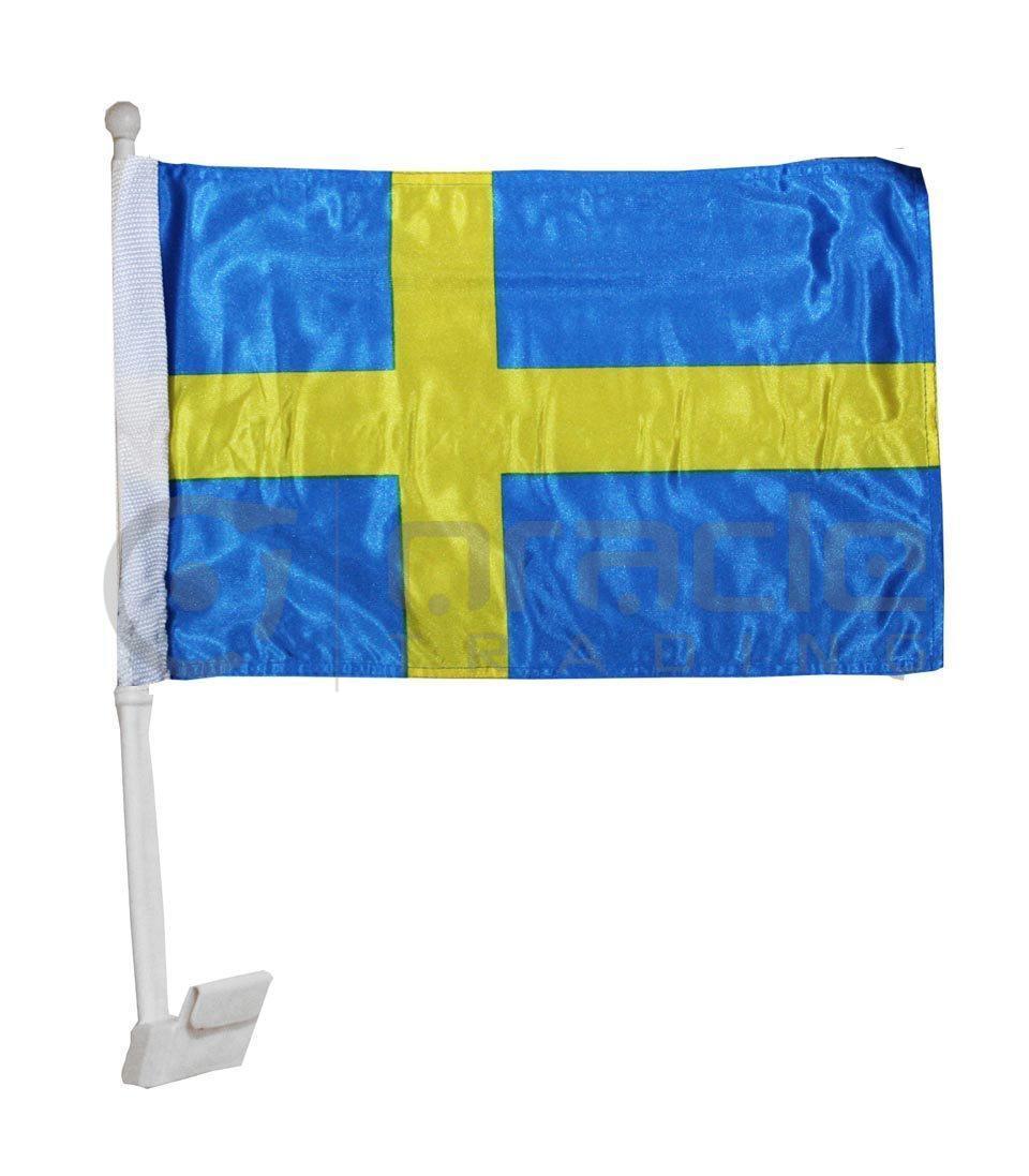 Sweden Car Flag